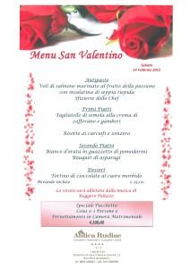 Vieni a festeggiare San Valentino da noi...
